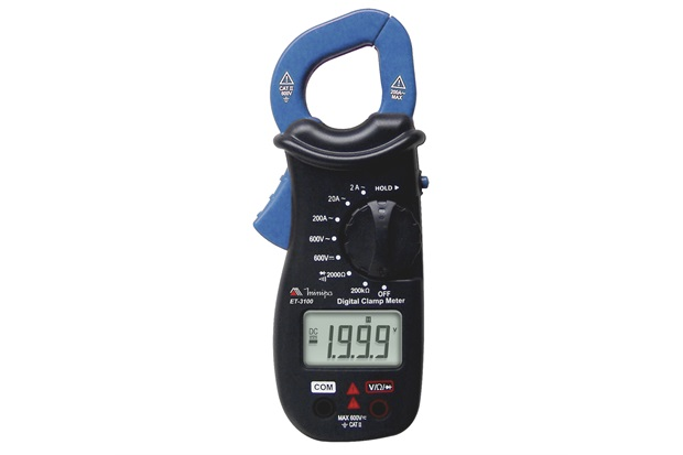 Alicate Amperímetro Digital com Display de 3.1/2'' Dígitos Et-3100 Azul - Minipa