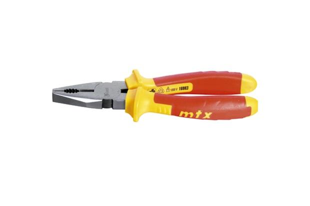 """Alicate Universal 8"""" Professional Amarelo E Vermelho - MTX"""