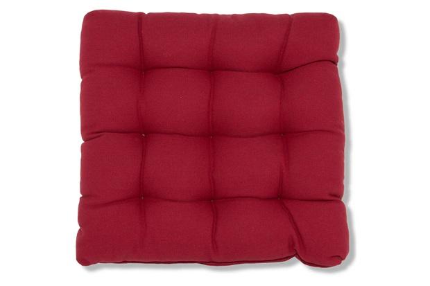 Almofada em Algodão Fuzzi 40x40cm Vermelha - Casa Etna