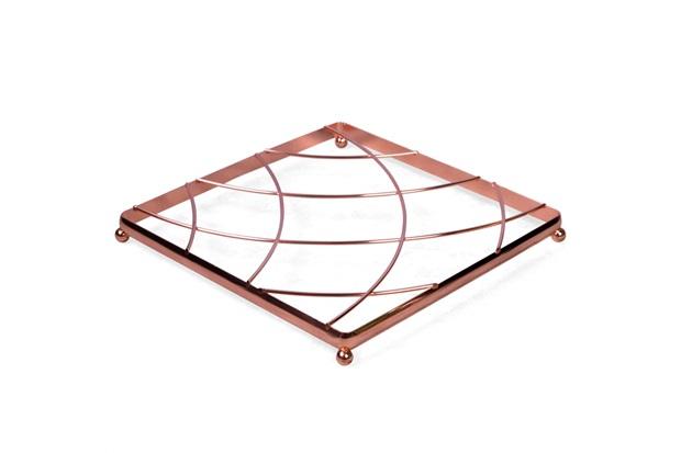 Aparador de Panela Quadrado 20cm Cobre - Casa Etna