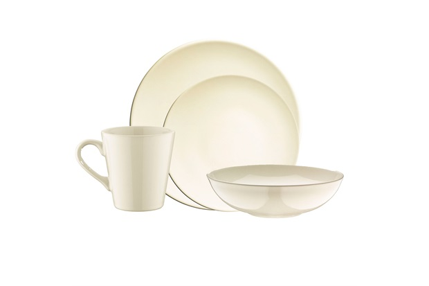 Aparelho de Jantar em Cerâmica 16 Peças Marfim  - Casanova