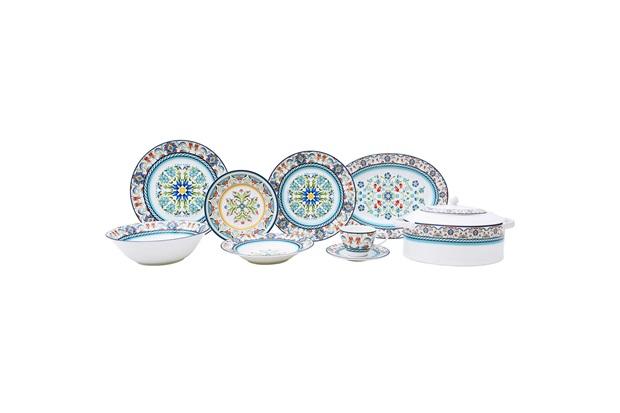 Aparelho de Jantar Tunisia em Porcelana com 35 Peças Estampado - L'Hermitage