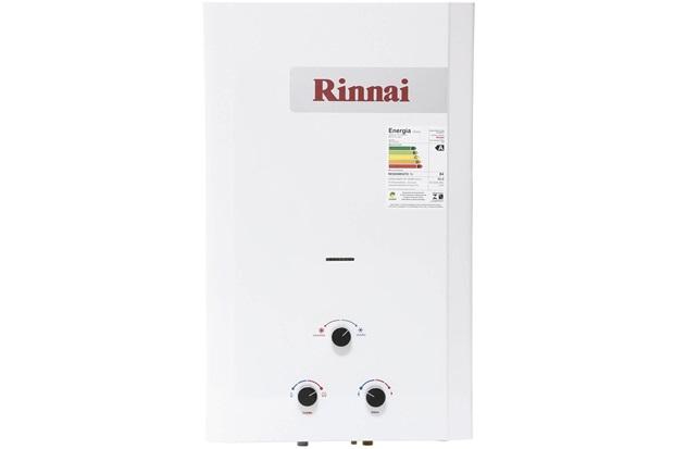 Aquecedor de Água a Gás Analógico 20 Litros Glp Branco - Rinnai