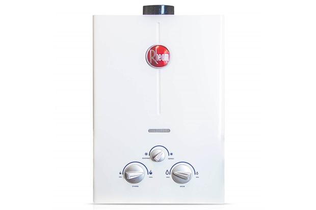 Aquecedor de Água a Gás Digital Classic 7 Litros Bivolt Glp Exaustão Forçada Branco - Rheem