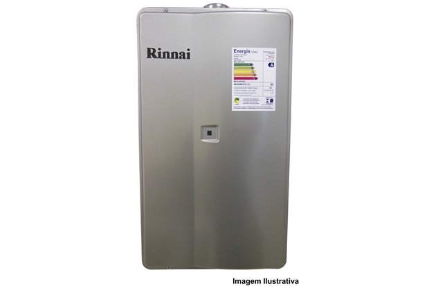 Aquecedor de Agua a Gás Reu 2802 Gn 35 Litros Prata Bivolt   - Rinnai