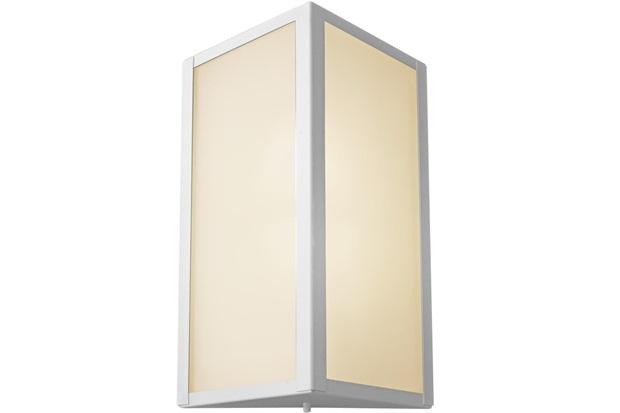 Arandela de Alumínio Triangular Grande Bolt Branca - Ideal Iluminação