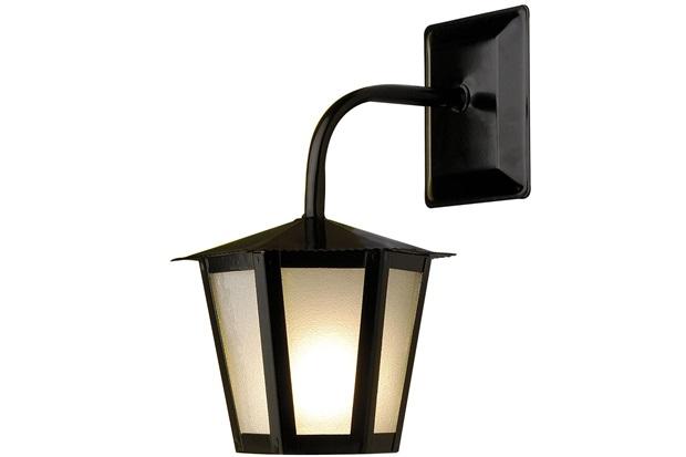 Arandela em Aço para 1 Lâmpada Colonial 30x19cm Preta - Ideal Iluminação