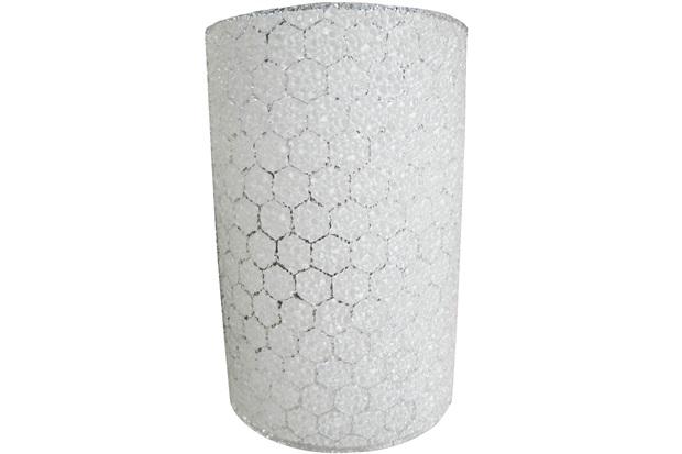 Arandela em Acrílico para 1 Lâmpada Colmeia Branca - Bronzearte