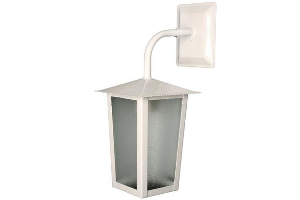 Arandela em Alumínio para 1 Lâmpada Colonial 36x15cm Branca - Ideal Iluminação