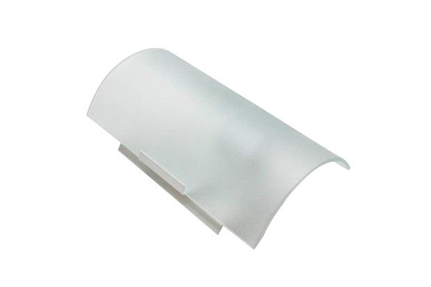 Arandela em Alumínio para 1 Lâmpada Vidro Leitoso Branca - Franzin