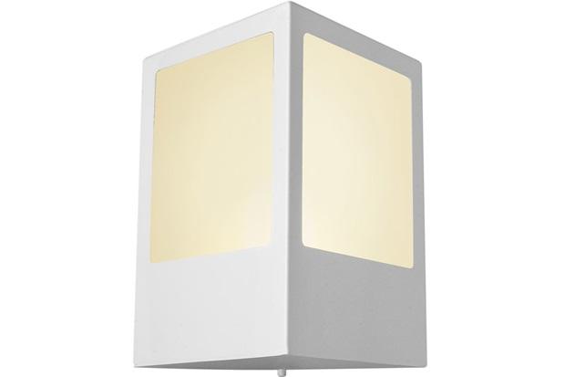 Arandela Triangular em Alumínio com Vidro Bolt 24x12cm Branca - Ideal Iluminação