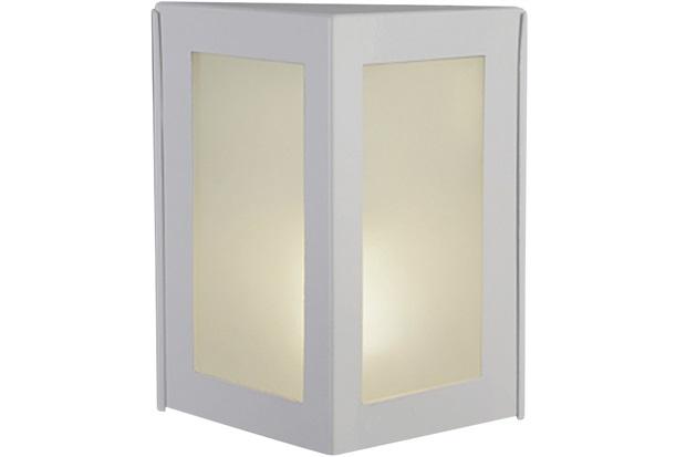 Arandela Triangular em Alumínio com Vidro Bolt Branca - Ideal Iluminação