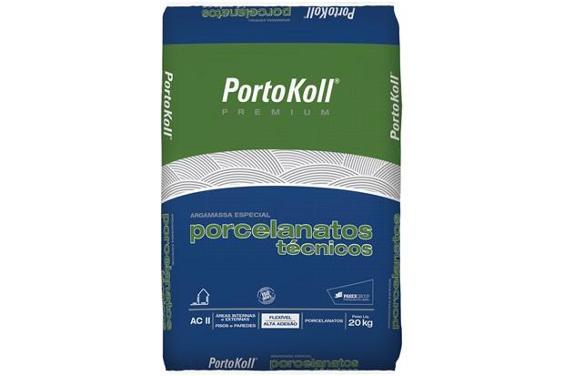 Argamassa Ac 2 para Porcelanatos Técnicos Cinza 20kg - Portokoll