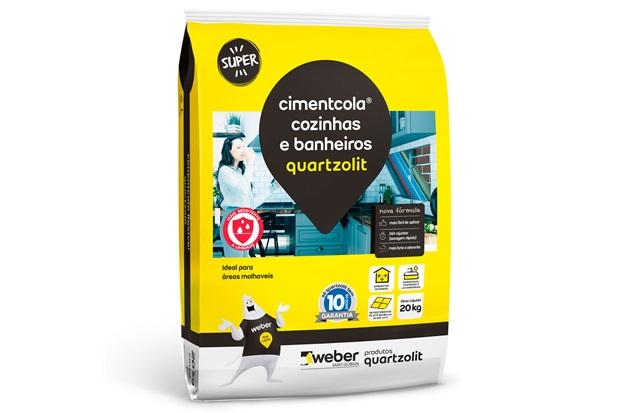 Argamassa Colante Cimentcola Cozinha E Banheiros Cinza 20kg - Quartzolit
