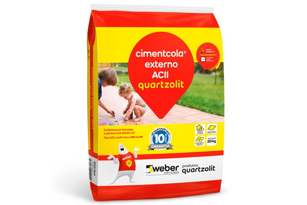 Argamassa Colante Cimentcola Externo Cinza 20kg - Quartzolit