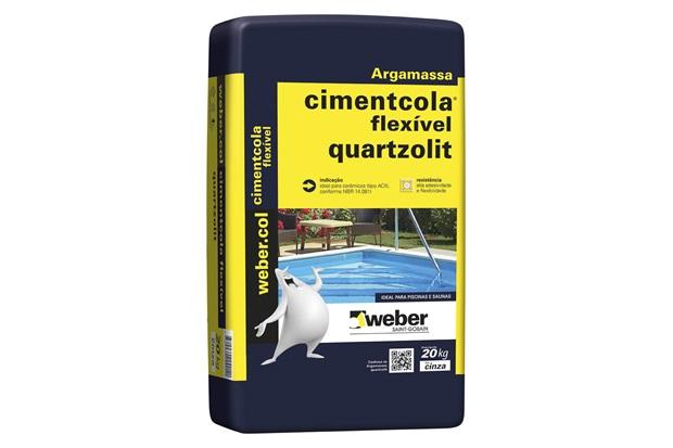 Argamassa Colante Cimentcola Flexível Cinza 20kg - Quartzolit