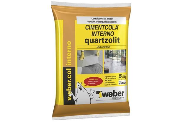 Argamassa Colante Cimentcola Interno Cinza 5kg - Quartzolit