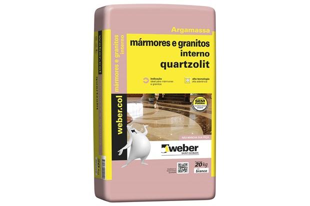Argamassa Colante para Mármores E Granito Interno Branco 20kg - Quartzolit