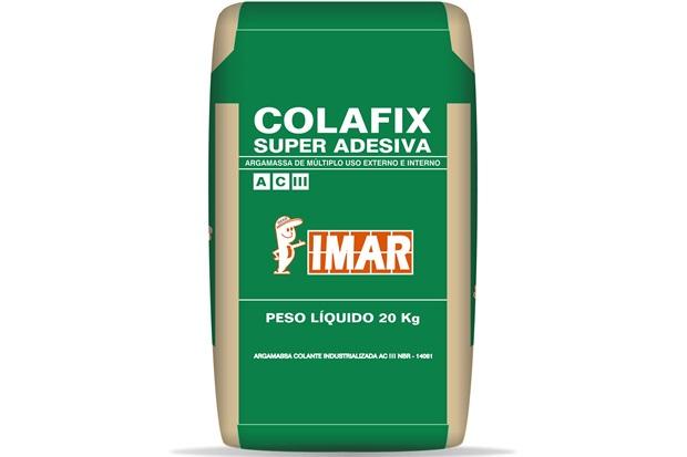 Argamassa Colante Super Adesiva Interno E Externo Cinza 20kg - Imar