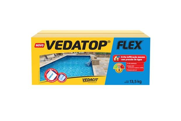 Argamassa Impermeabilizante Vedatop Flex 12kg Cinza - Vedacit