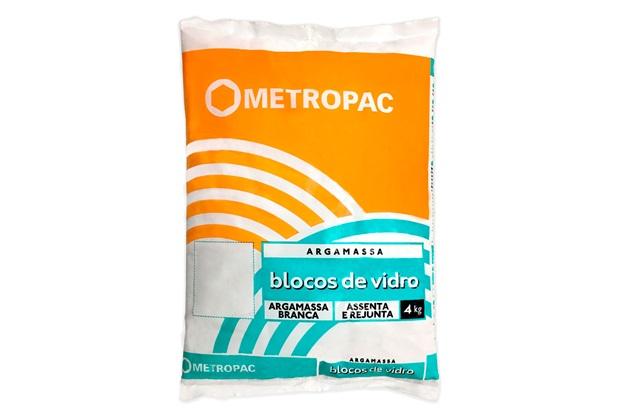 Argamassa para Bloco de Vidro Cinza 4kg - Metropac