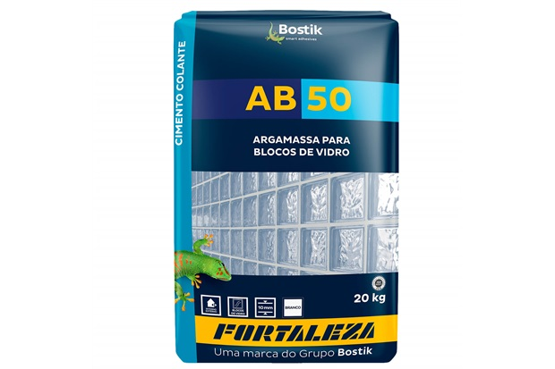 Argamassa para Blocos de Vidro Ab 50 Branca 20kg - Fortaleza