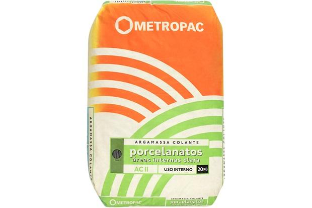 Argamassa para Porcelanatos Interna Branca 20kg - Metropac