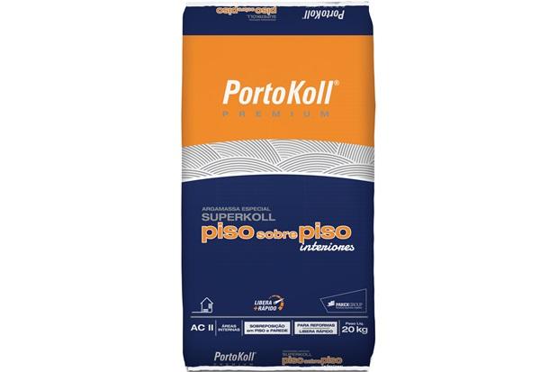 Argamassa Superkoll Piso Sobre Piso Interno Cinza 20kg - Portokoll