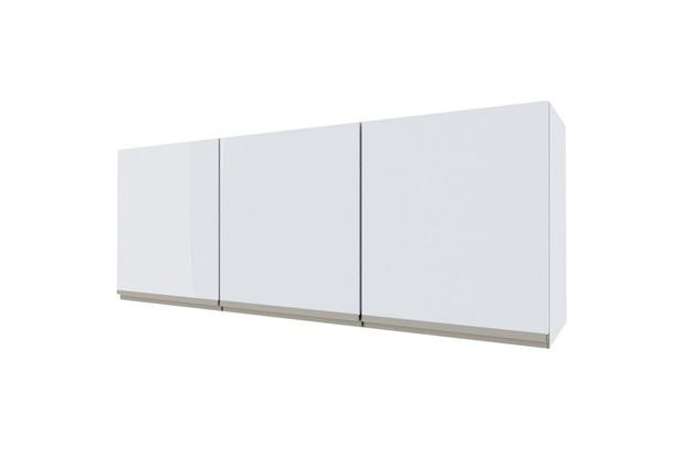 Armário Aéreo para Cozinha em Aço Gaia 144,5cm Branco - Cozimax