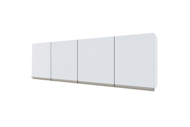 Armário Aéreo para Cozinha em Aço Gaia 174,3cm Branco - Cozimax