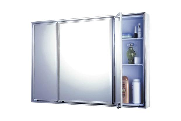Armário para Banheiro de Sobrepor 71x48,5cm Cromado - Cris Metal