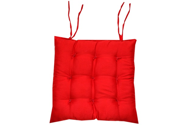 Assento Baixo Oxford 40x40cm Vermelho - Próxima Têxtil