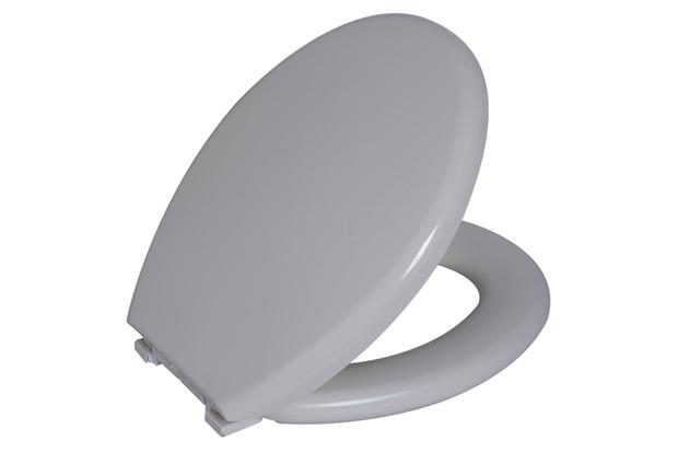 Assento Sanitário Oval Almofadado Bege Claro - Astra