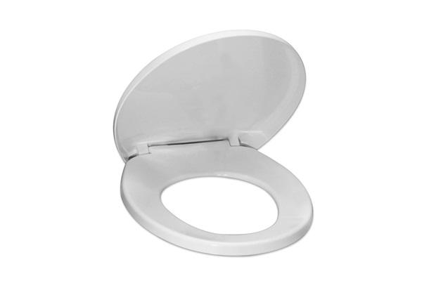 Assento Sanitário Universal Polipropileno Soft Close Cinza - Tupan