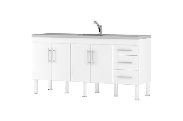 Balcao Cozinha Flex 1,74 Metros Branco - MGM Móveis