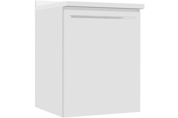 Balcão Fit Lado Direito com Prateleira com Tampo Branco 60cm - Bumi Móveis