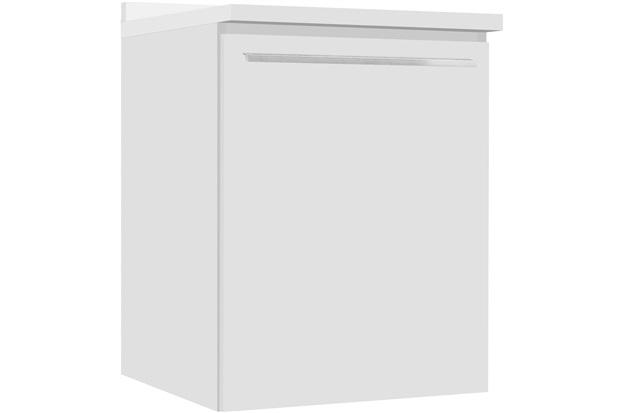 Balcão Fit Lado Esquerdo com Prateleira E Tampo 60cm Branco - Bumi Móveis