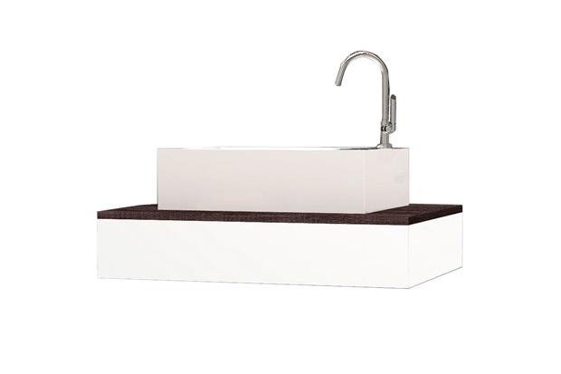 Bancada para Banheiro em Mdp sem Cuba 60x41,4cm Branca E Dakota - Cozimax