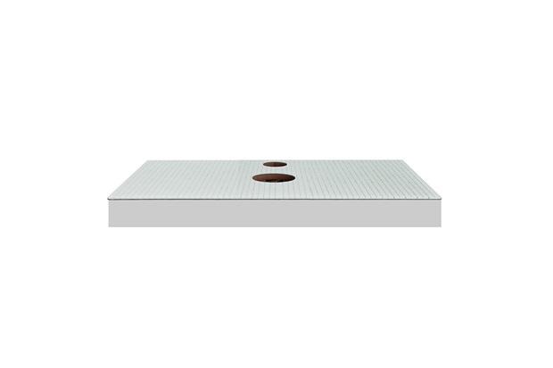 Bancada  Yes Vidro com Furo Branco 60cm - Bumi Móveis