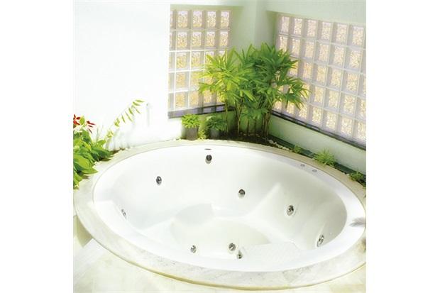 Banheira Redonda com Aquecedor 30 Jatos Therma Caribe Premium 228x228cm Branca - Ouro Fino