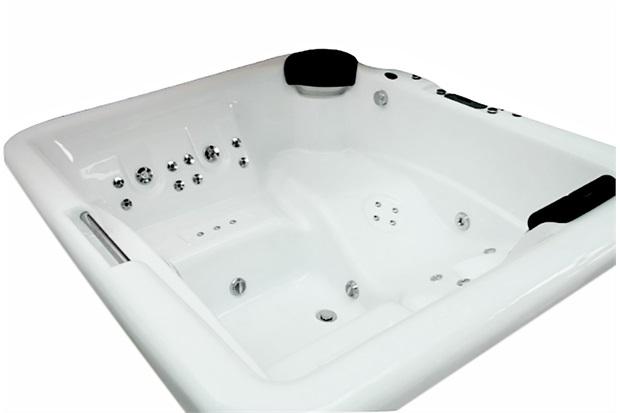 Banheira Retangular com Aquecedor 32 Jatos Iberspacril Premium 195x170cm Branca - Ouro Fino