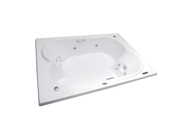 Banheira Retangular sem Aquecedor 14 Jatos Ourocril Premium 182x131cm Branca - Ouro Fino