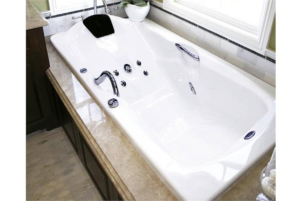 Banheira Retangular sem Aquecedor 9 Jatos Acrillic Premium 150x90cm Branca - Ouro Fino