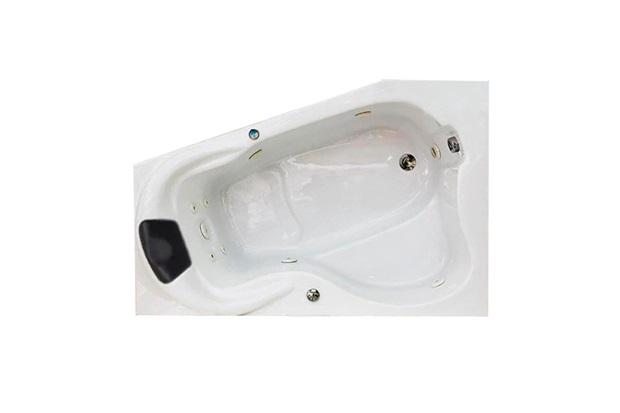 Banheira Retangular sem Aquecedor 9 Jatos Acrilmetric Premium 150x65cm Branca - Ouro Fino