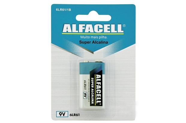 Bateria Alcalina 9v com 1 Unidade - Alfacell
