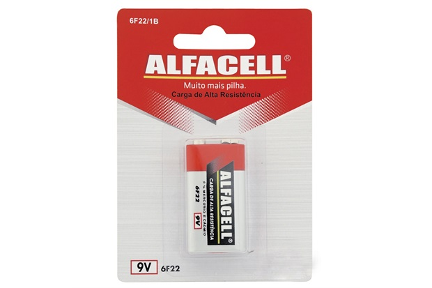 Bateria Comum 9v com 1 Unidade - Alfacell