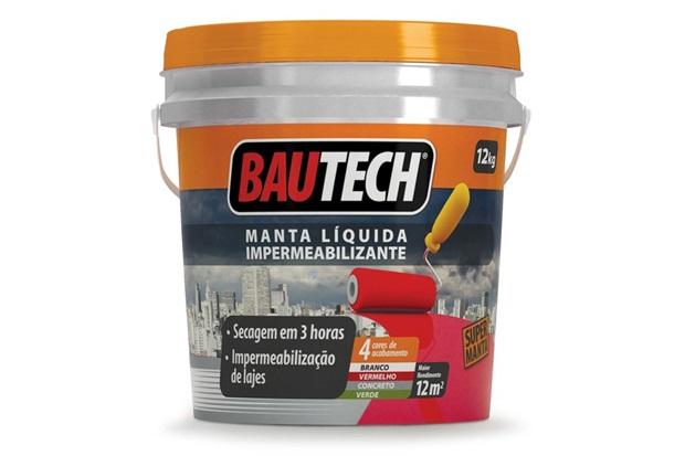 Bautech Manta Líquida Cinza 12kg - Bautech