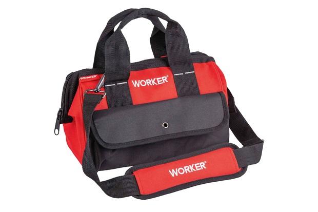Bolsa para Ferramentas em Poliéster 12'' Preto E Vermelho - Worker