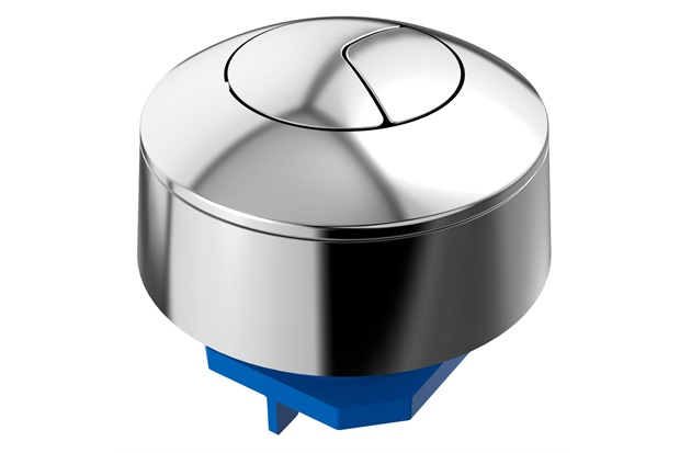 Botão Acionador Universal Duplo para Caixa Acoplada Cromada - Blukit