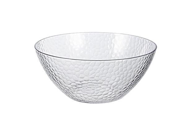 Bowl Acrílico Martelado 3.8l Transparente - Casanova